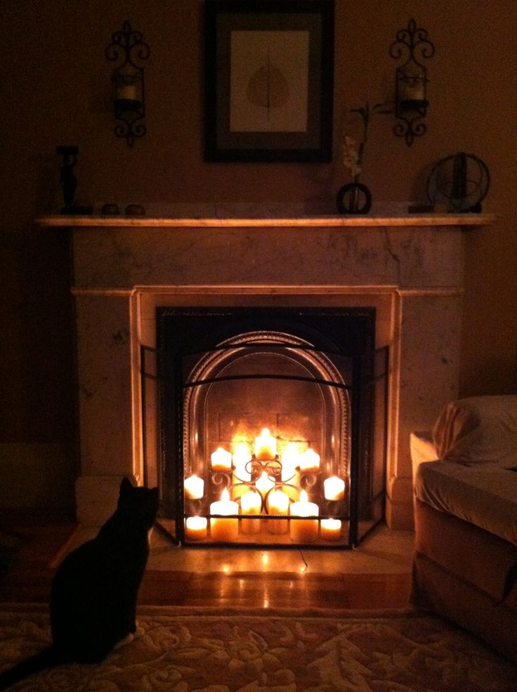 Best 25+ Fireplace with candles ideas on Pinterest ...