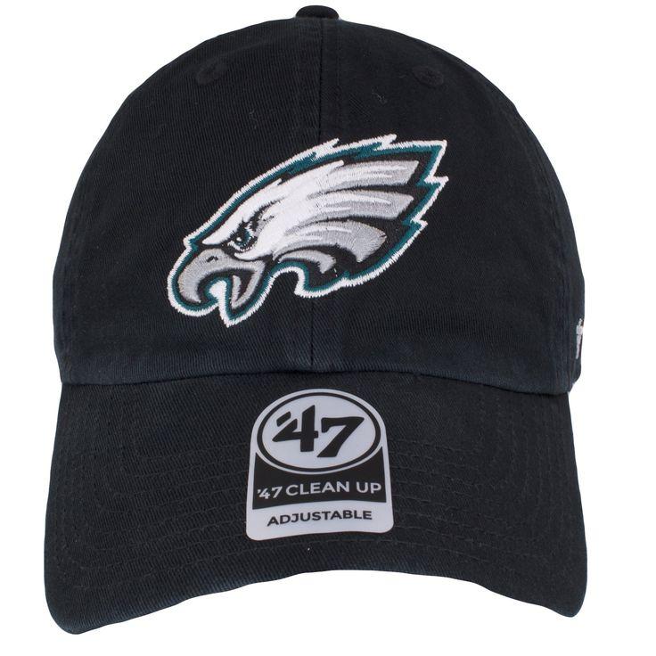 Philadelphia Eagles Current Logo Adjustable Black Dad Hat