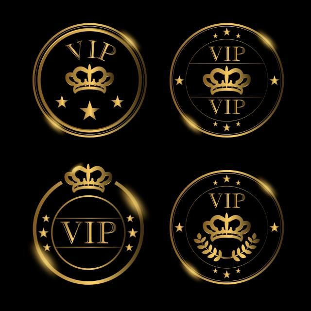Vip Luxury Badges Royal Luxury Ornament Png And Vector With Transparent Background For Free Download Vip Logo Graphic Design Background Templates Vector