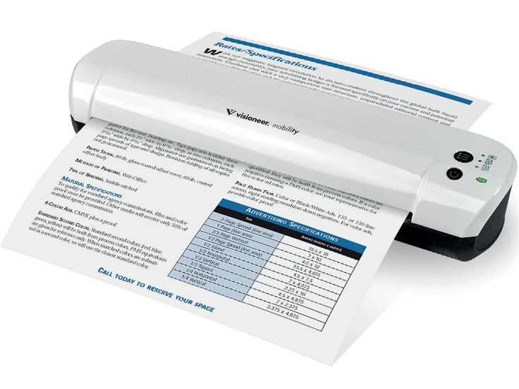 Visioneer Mobility Air Cordless Wireless Color Document USB Sheetfed Scanner MOBILE-SCAN-M