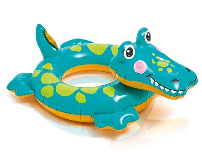 Big Adorable CROCODILE Animal Swim Ring Child Pool Float Trainer ~ 28 x 22 deflated size ~ 3-6 years