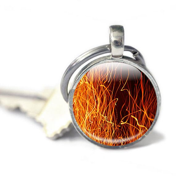 Fire Keyring handmade in the UK https://www.etsy.com/GlassCharmed/listing/167445893/fire-keychain-flames-keychain-glass