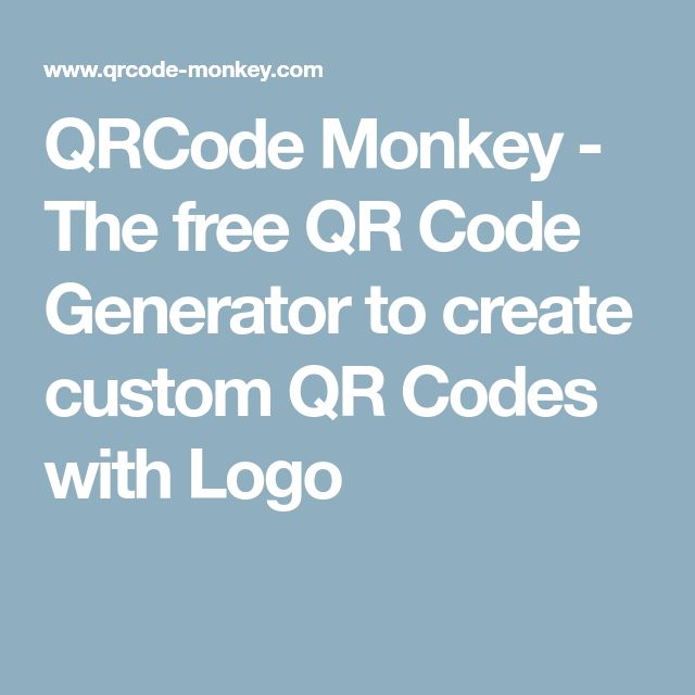 QRCode Monkey - The free QR Code Generator to create custom QR Codes with Logo