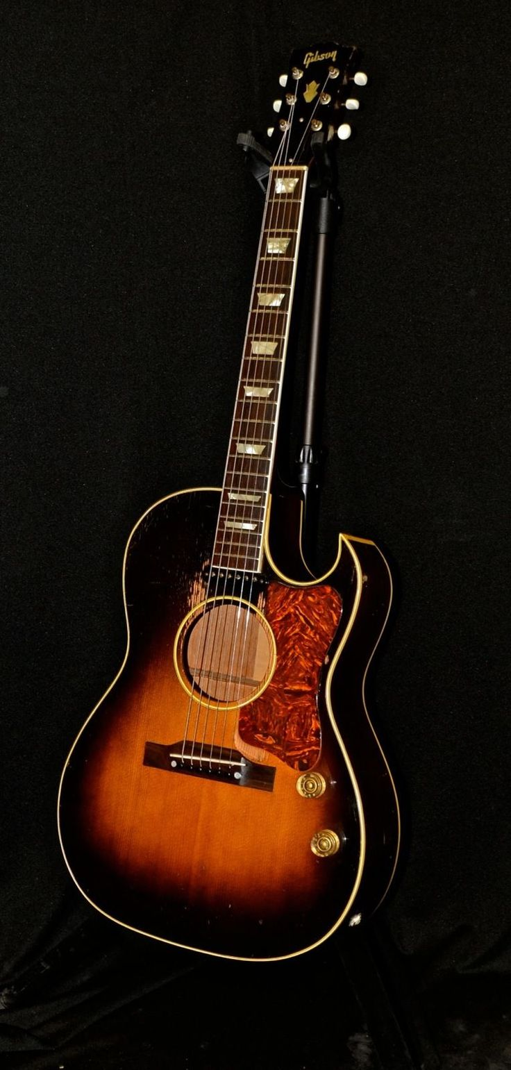 Vintage 1951 Gibson CF100E Acoustic Electric Cutaway Guitar w/ Brown OHSC