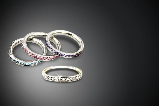 Stackable Swarovski Elements Rings