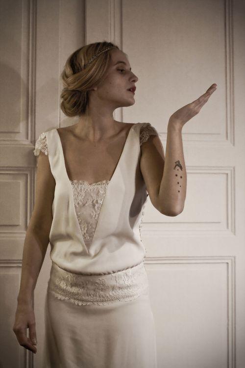 Robe de Mariée Stéphanie Wolff 2013  http://lamarieeencolere.com/post/36124001893/stephanie-wolff#