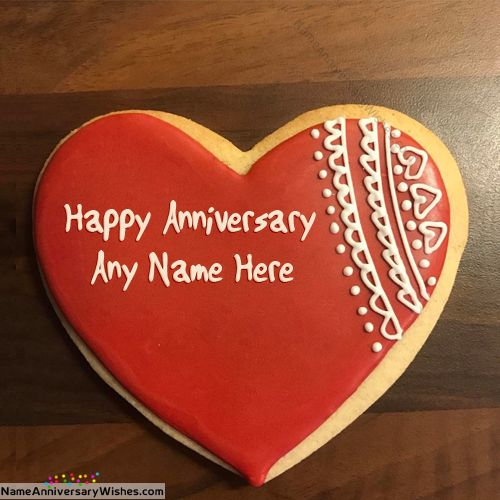 Romantic Marriage Anniversary Cakes With Name