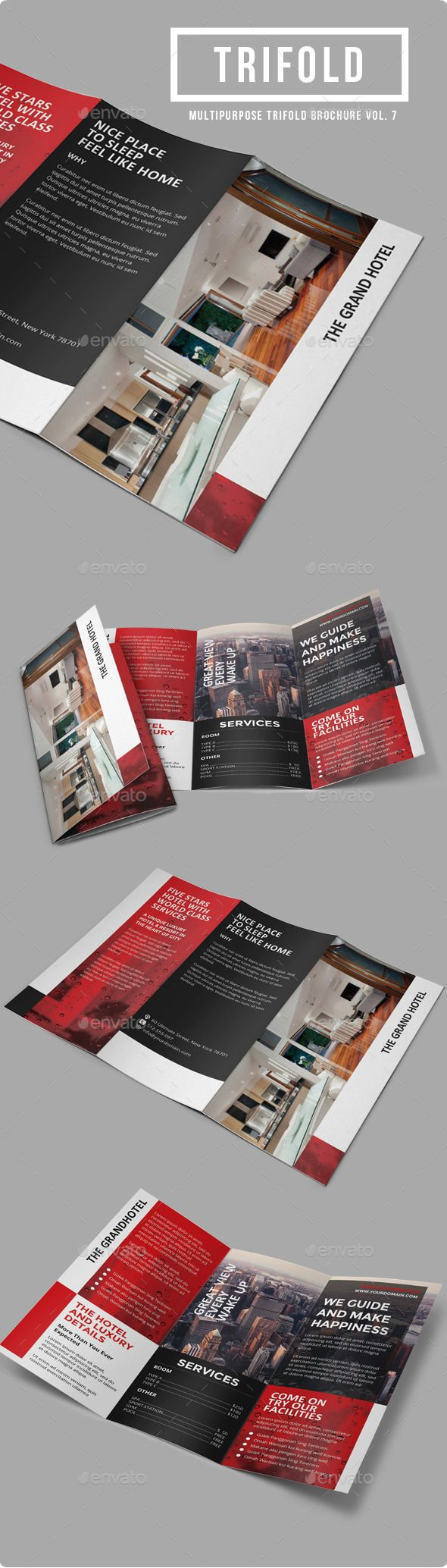 Sun Hotel - Multipurpose Trifold Brochure Template #design Download: http://graphicriver.net/item/sun-hotel-multipurpose-trifold-brochure-vol-7/9870612?ref=ksioks