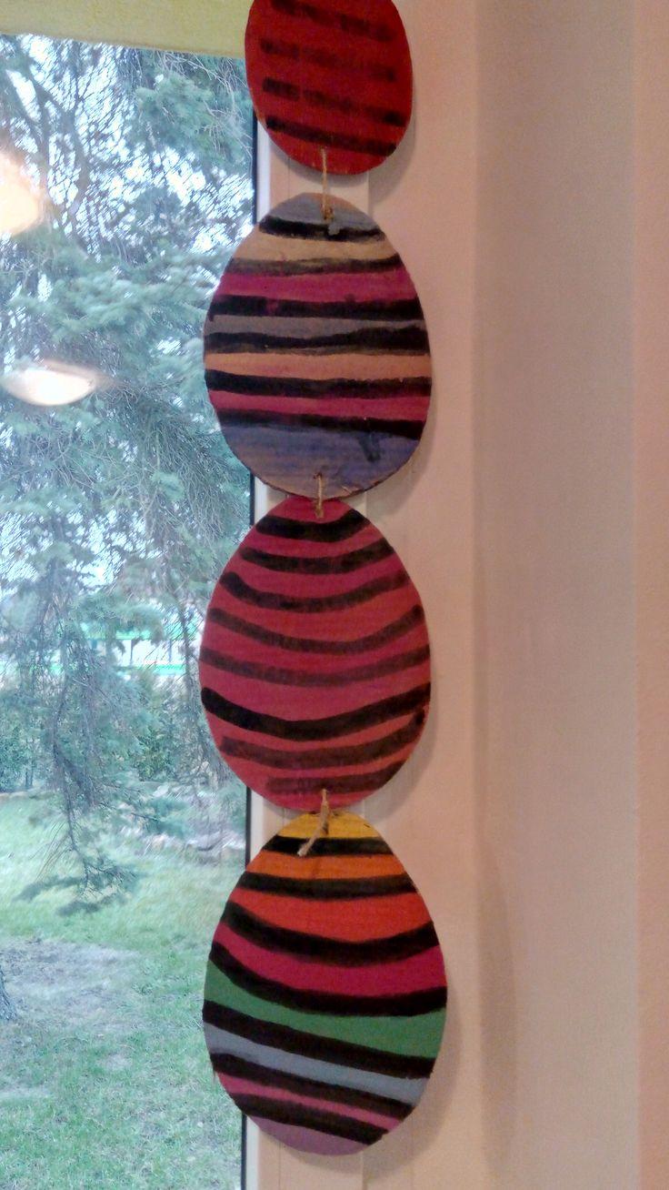 velikonoční závěs na okno