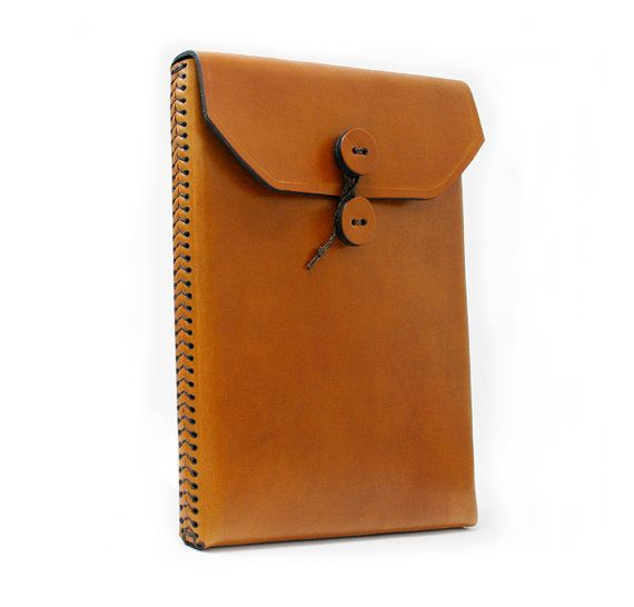 Memo Envelope Leather iPad2 Case with Baseball Stitch Detail