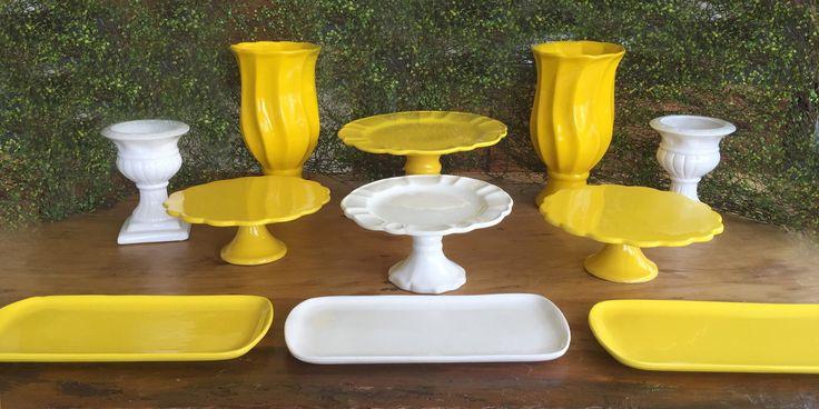 Kit Festa Amarelo e Branco ALUGUEL by Design Festeiro