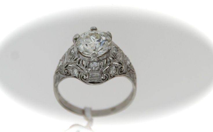 White Coral Cocktail Estate Ring