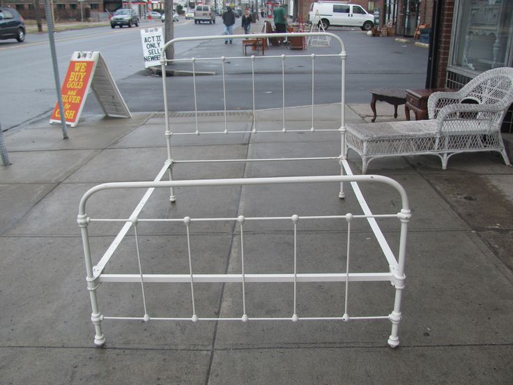 antique metal bed frame full 2