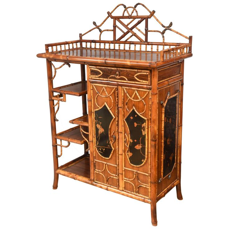 Rare 19th Century Superb English Bamboo Cabinet at 1stdibs