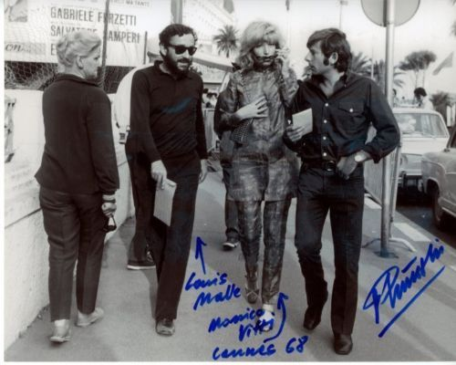 ROMAN-POLANSKI-signed-w-LOUIS-MALLE-MONICA-VITTI-photo-GREAT-CONTENT