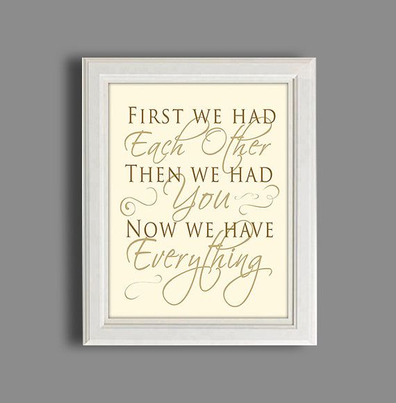 """Items similar to Nursery Decor, baby girl or boy, """"No one will ever know the strength of my love for you"""" quote sign, new mom gift on Etsy"""