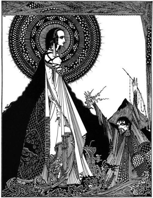 """Harry Clarke Illustration for Edgar Allen Poe's """"Ligeia"""""""