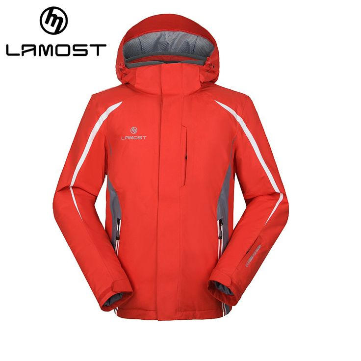 LAMOST Mens  waterproof windbreaker hooded  ski jacket men campera ski hombre chaqueta esqui hombre