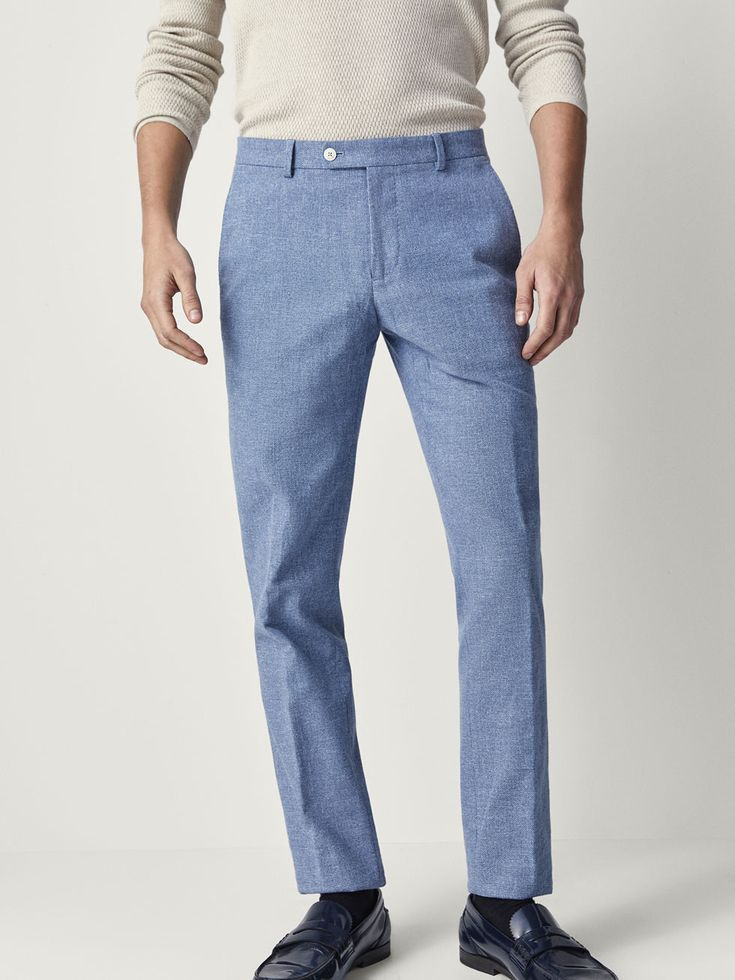 CASUAL FIT TEXTURED WEAVE COTTON/LINEN TROUSERS, $110 CAD from Massimo Dutti