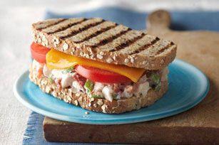 Chicken Salad Panini Recipe - Healthy Living Kraft Recipes