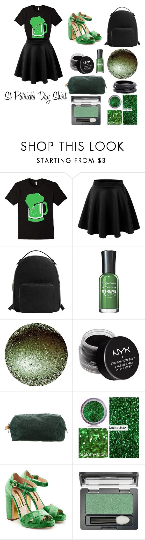 """""""St Patrick's Day Shirt"""" by beldisegno ❤ liked on Polyvore featuring MANGO, NYX, Etro, Rupert Sanderson, Maybelline and ZENZii"""