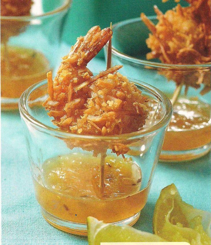 Piña colada shrimp