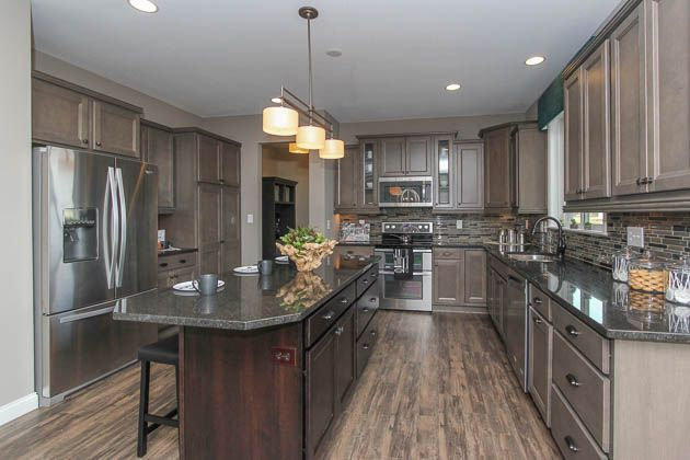 about Kitchens ~ Contrasting Cabinets & Colored Cabinets on Pinterest