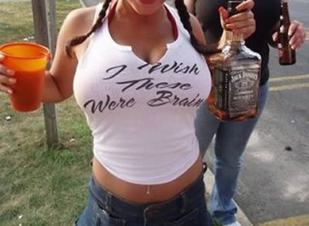 PY GEAR™: I WISH THESE (boobs) WERE BRAINS - T Shirt