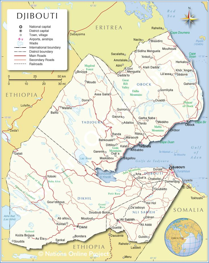General Map of Djibouti