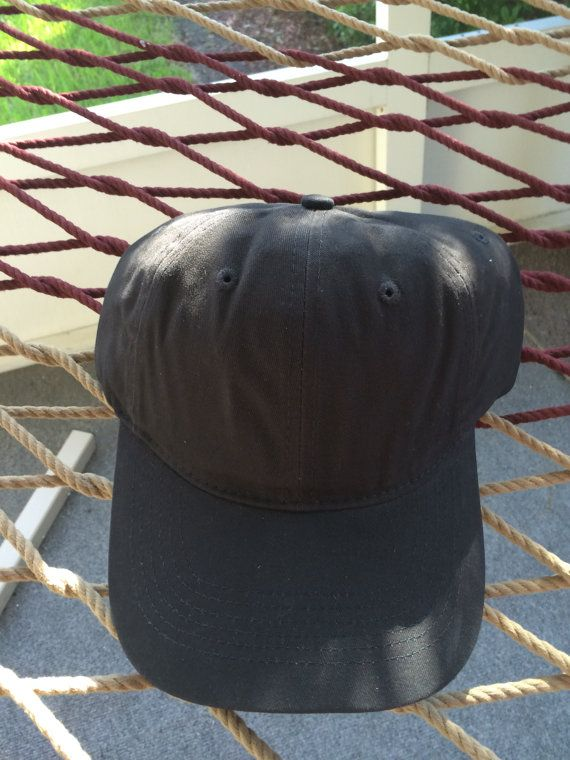 Plain Black Hat with a Metal Adjustable Buckle