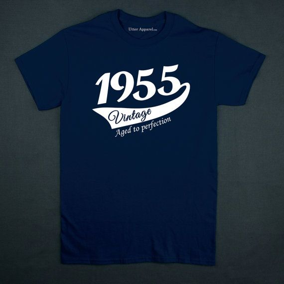 60th Birthday Gift For Man, Vintage (1955) Aged To Perfection T-shirt, Gift idea. More colors available S-2XL