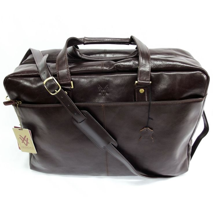 Quindici Travel Suitcase Brown Leather Hand Luggage Size I.A.T.A. Vegetable Tan For Men & Women QVB 517