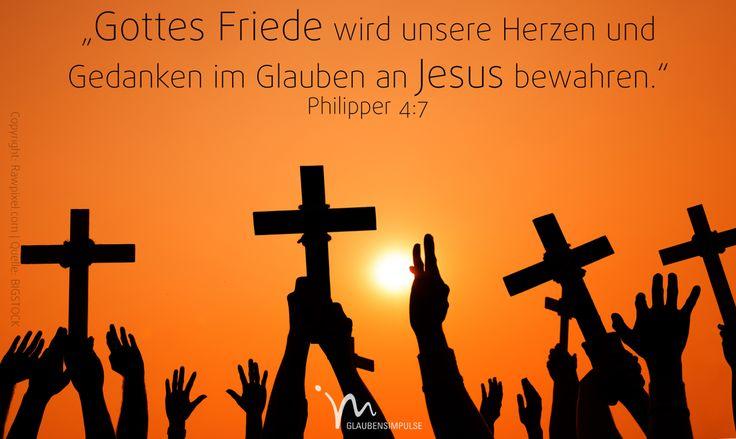"""""""Und #Gottes #Friede, der all unser #Verstehen #übersteigt, wird eure #Herzen und #Gedanken im #Glauben an #Jesus #Christus bewahren."""" #Philipper 4:7 #glaubensimpulse"""