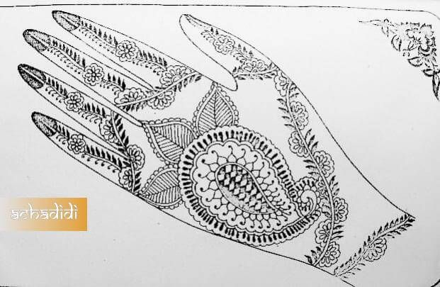 индийский рисунок для рук