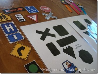 street signs file folder game