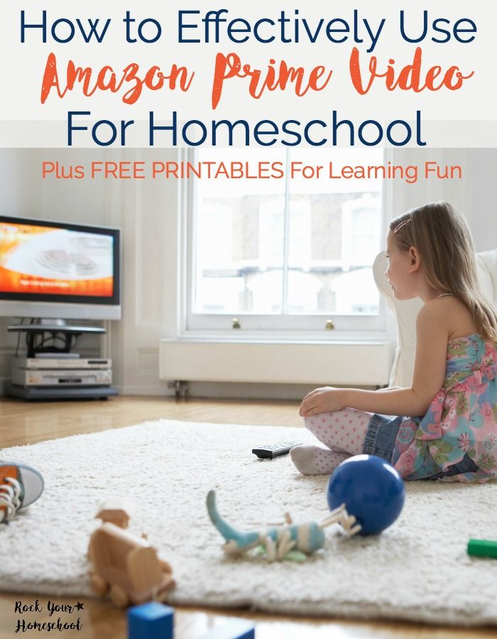 Amazon Prime Video is an excellent way to add learning fun to your homeschool. Find out how to effectively use this affordable resource plus get FREE printable worksheets for your kids to use to boost their learning.