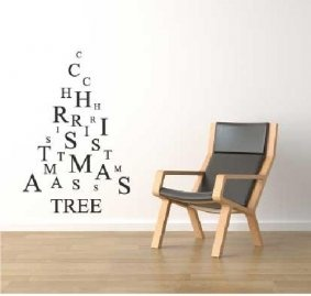 Contemporary Christmas Tree, Wall Art :: Wall Stickers and Murals :: Jackhouse