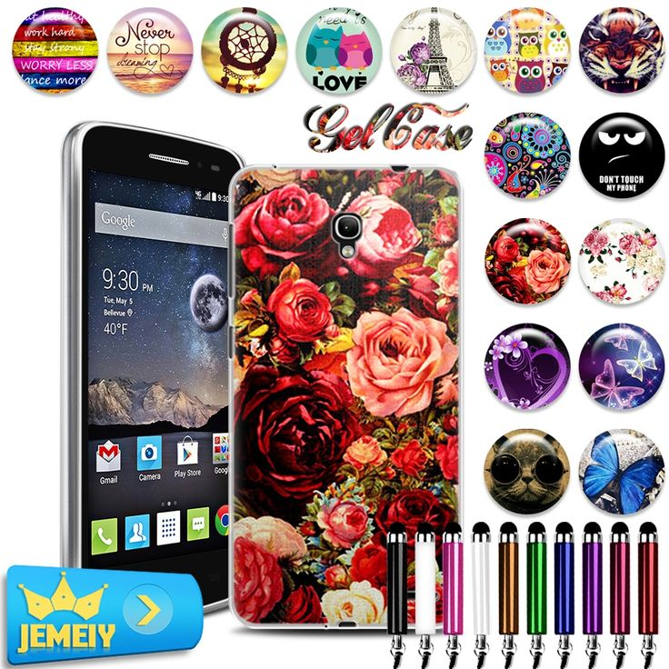 2.23$  Buy here - Alcatel OT pixi 4 4.0 pixi 4 5.0 3G 5010D Pop 2 5042 4.5 go play 7048x 4031D Printed Soft TPU silicone Case tempered glass   #bestbuy