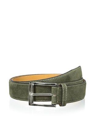 59% OFF Leone Braconi Men's Velour Z Suede Belt (Green)
