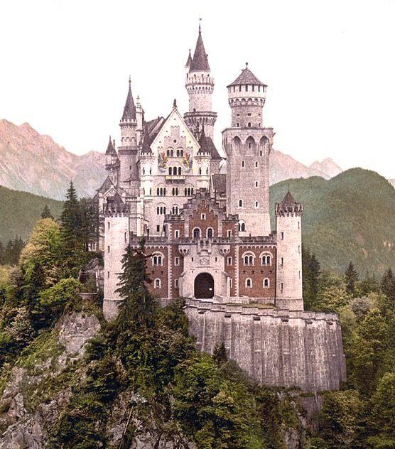Neuschwanstein Castle, Schwangau, Deutschland. Built by Ludwig II King of Bavaria (1864-1886)