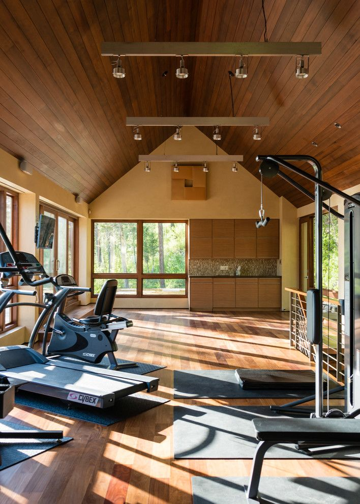 impressive lake homes | Impressive Fitness Equipment decorating ideas for Aesthetic Home Gym ...