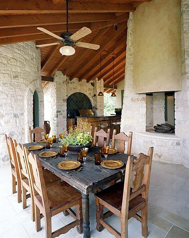 17 best images about rustic outdoor kitchens on pinterest for Country outdoor kitchen