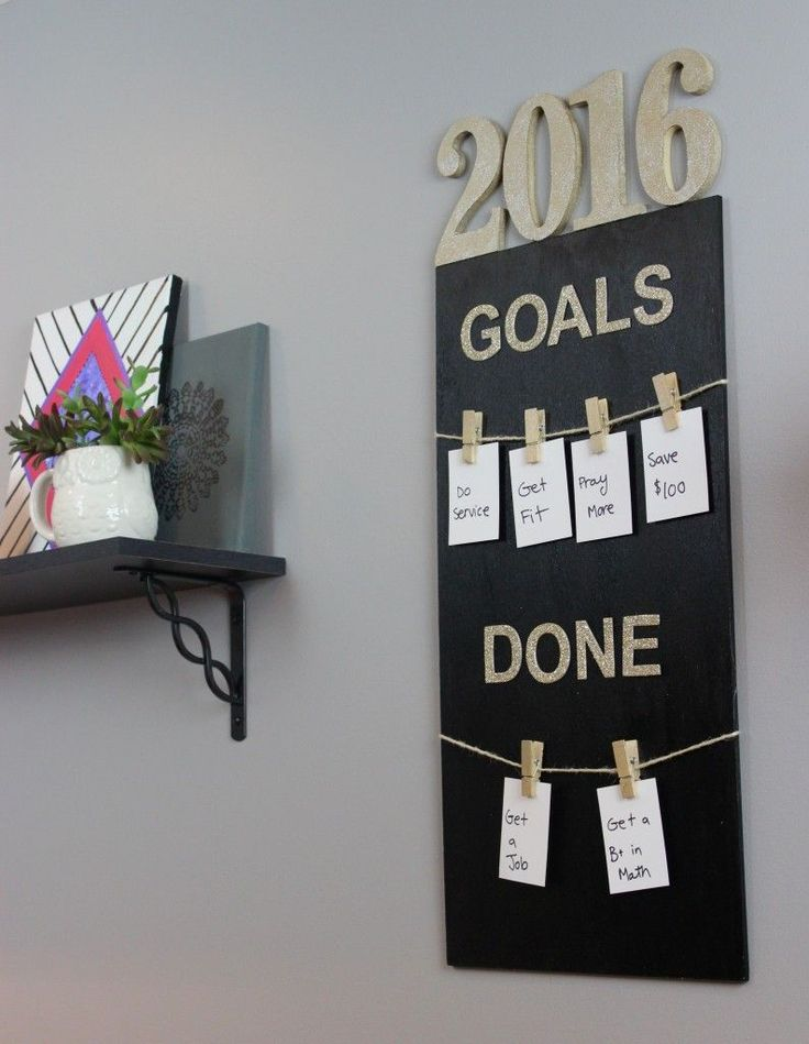 It's fun setting goals with this 2016 Goal Board! Easily made with Deco Art Inc!