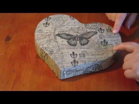 Beton giessen - DIY - Serviettentechnik auf Beton - YouTube
