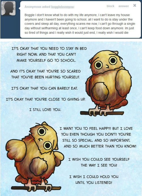 Boggle the Owl Loves You and Wants You to Be Happy