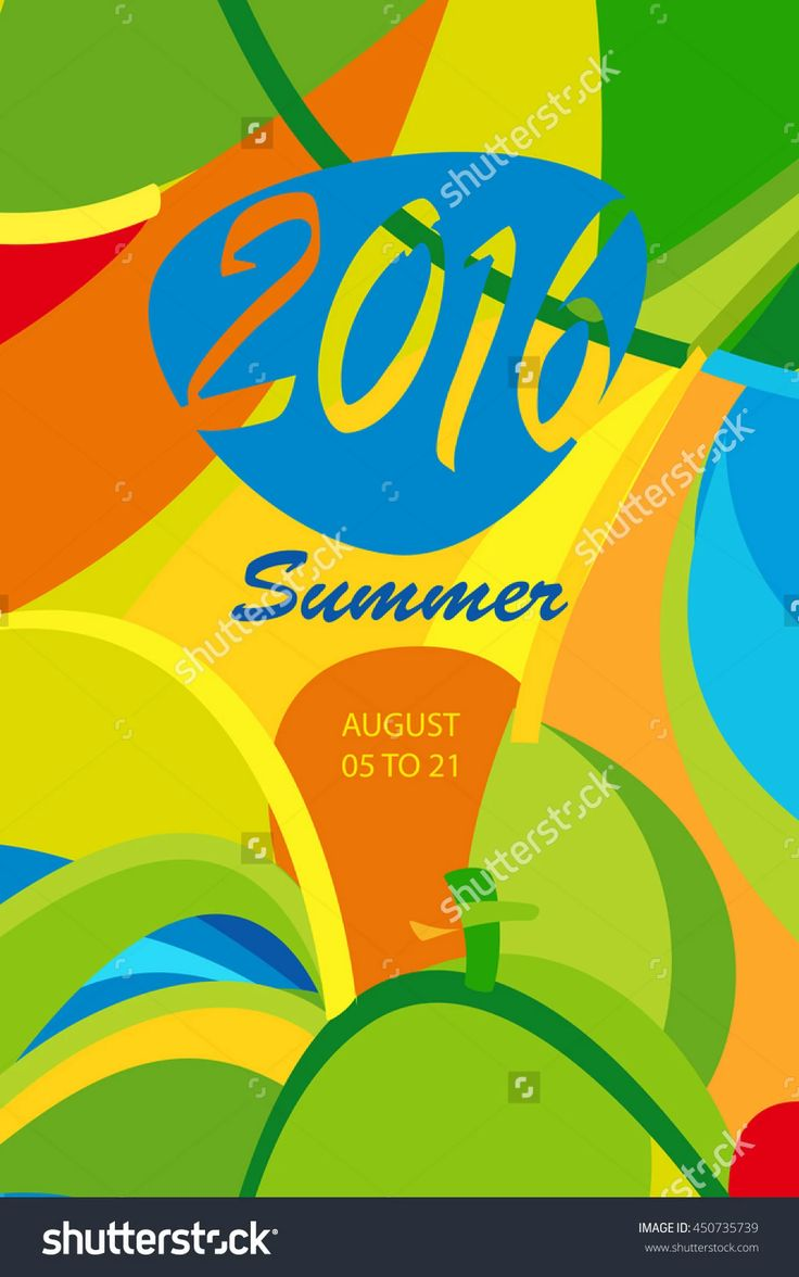 Rio 2016 Abstract Colorful Poster De Janeiro Brazil Games Wallpaper Summer