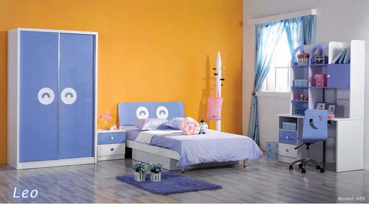 wonderful children bedroom sets with yellow cupboard yellow headboard gloss wood floor white painted wall