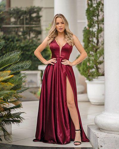 Pin by sedirlene alves on Vestidos de Festa Marsala | Formal evening dresses, Evening dresses, Cheap evening dresses