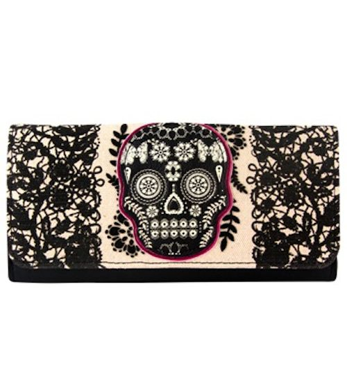 Loungefly Lace Skull Wallet. Eeee! Love this #lacey #accessories #skull