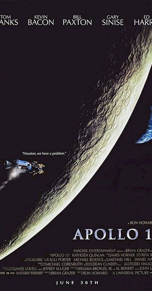 Directed by Ron Howard.  With Tom Hanks, Bill Paxton, Kevin Bacon, Gary Sinise. NASA must devise a strategy to return Apollo 13 to Earth safely after the spacecraft undergoes massive internal damage putting the lives of the three astronauts on board in jeopardy.